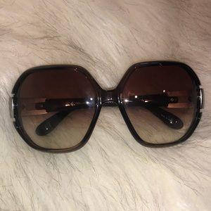 MARC BY MARC JACOBS Brown Oversized Sunglasses